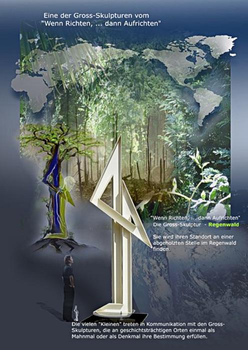 Regenwald -   Sie wird ihren Standort an einer abgeholzten Stelle im Regenwald finden müssen, an der sich die Natur diesen Ort zurückerobern kann